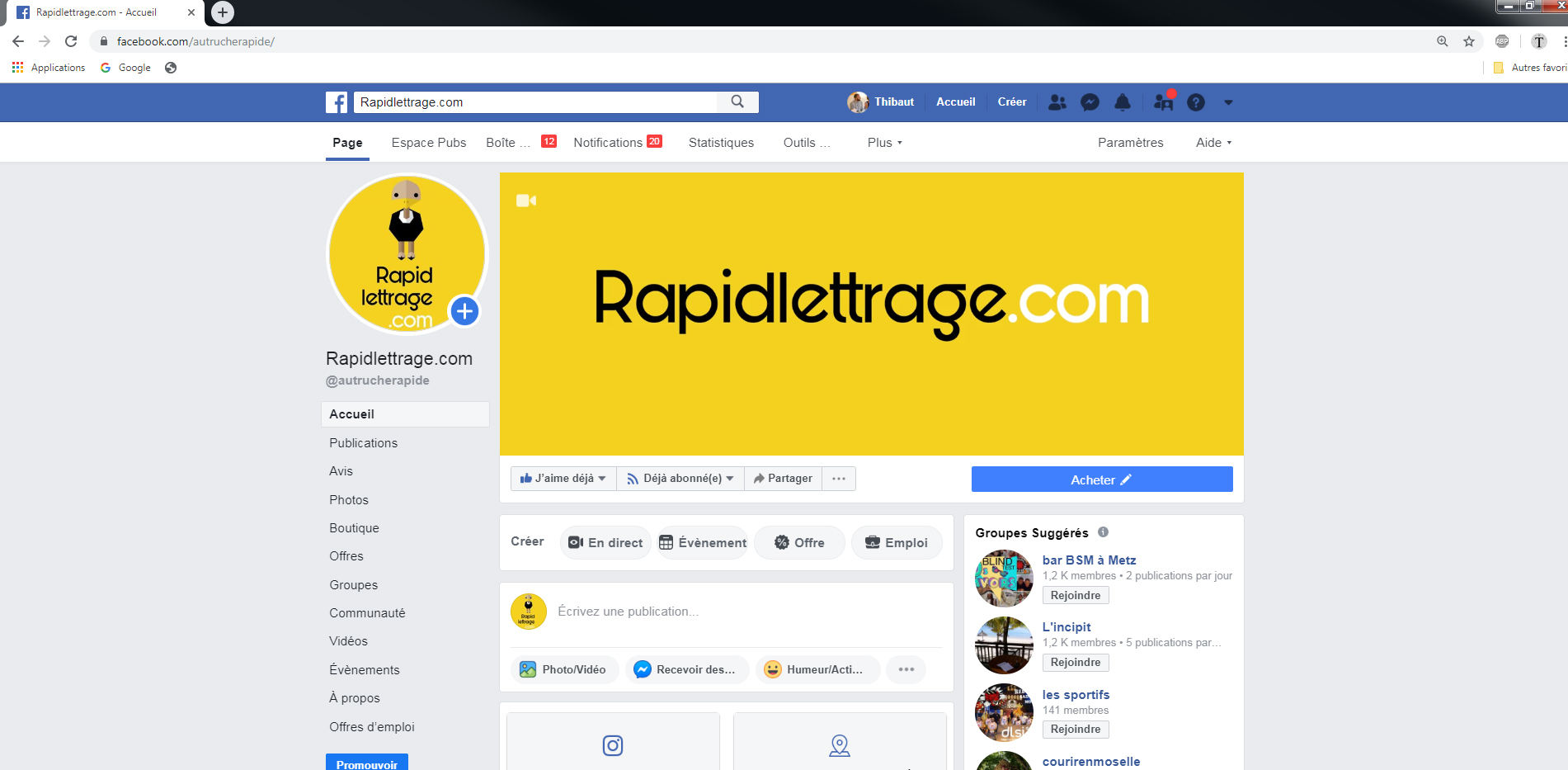 Facebook Rapidlettrage